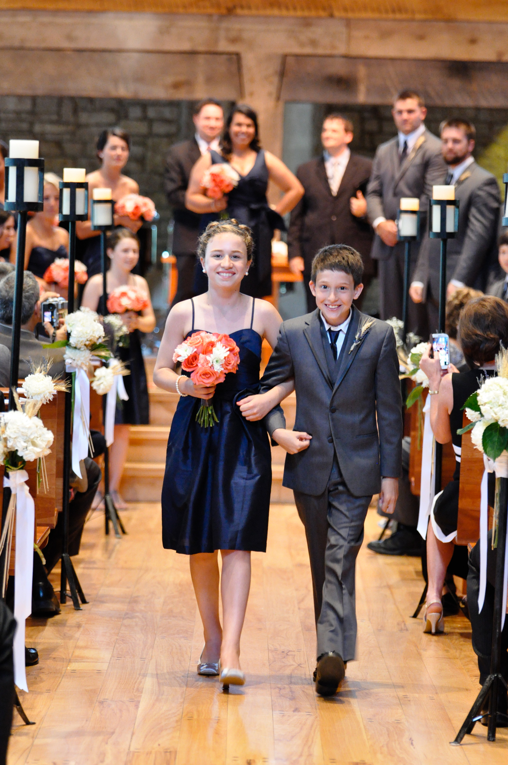 The two junior bridesmaids and two groomsmen were pretty precious.