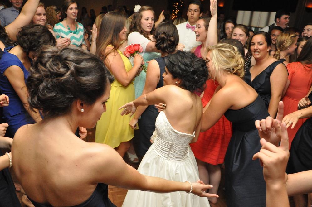 This dance floor was not messin around.