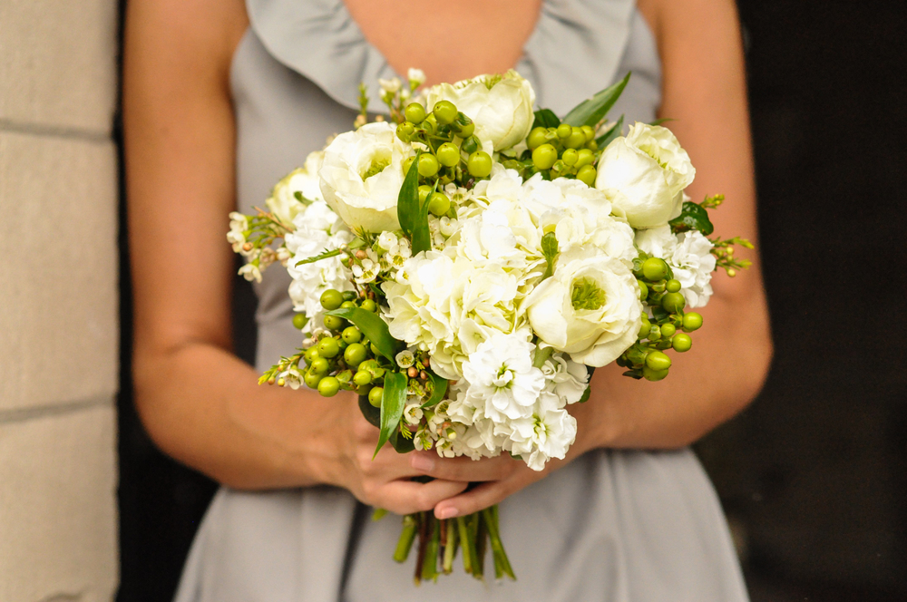 The flowers and custom made bridesmaid dresses were an unbeatable combo.