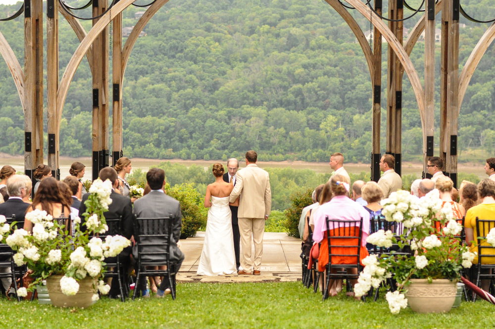 """Did I mention that the park where they said """"I Do"""" overlooks the river dividing Ohio and Kentucky? The view was incredible."""