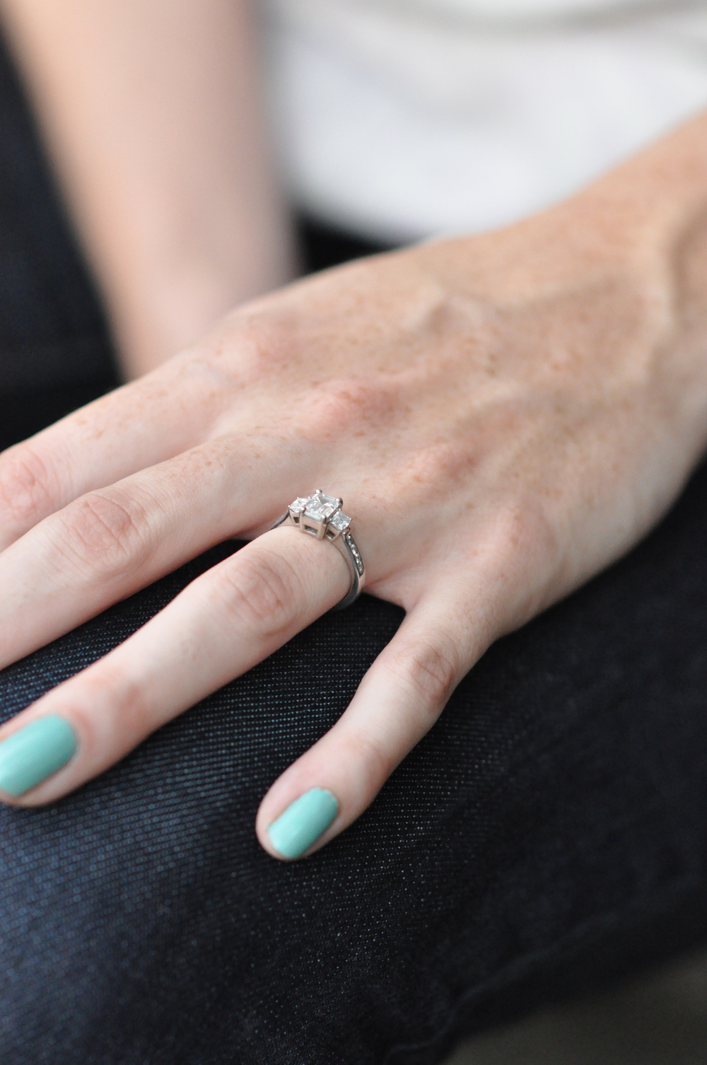 I love all the stories that surround this ring and I really love how much Eliza loves it! Did you clean it today, E?