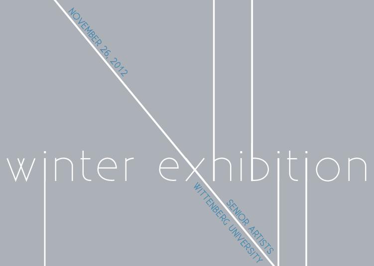Invitation for Winter Exhibition, Wittenberg University