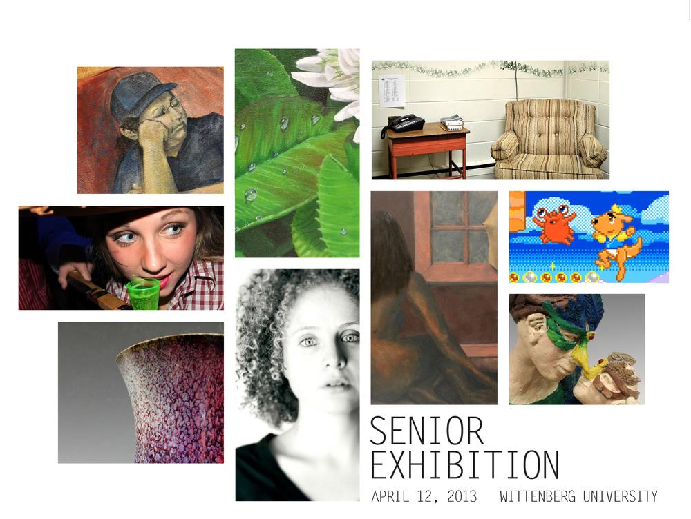 Invitation for Senior Exhibition, Wittenberg University