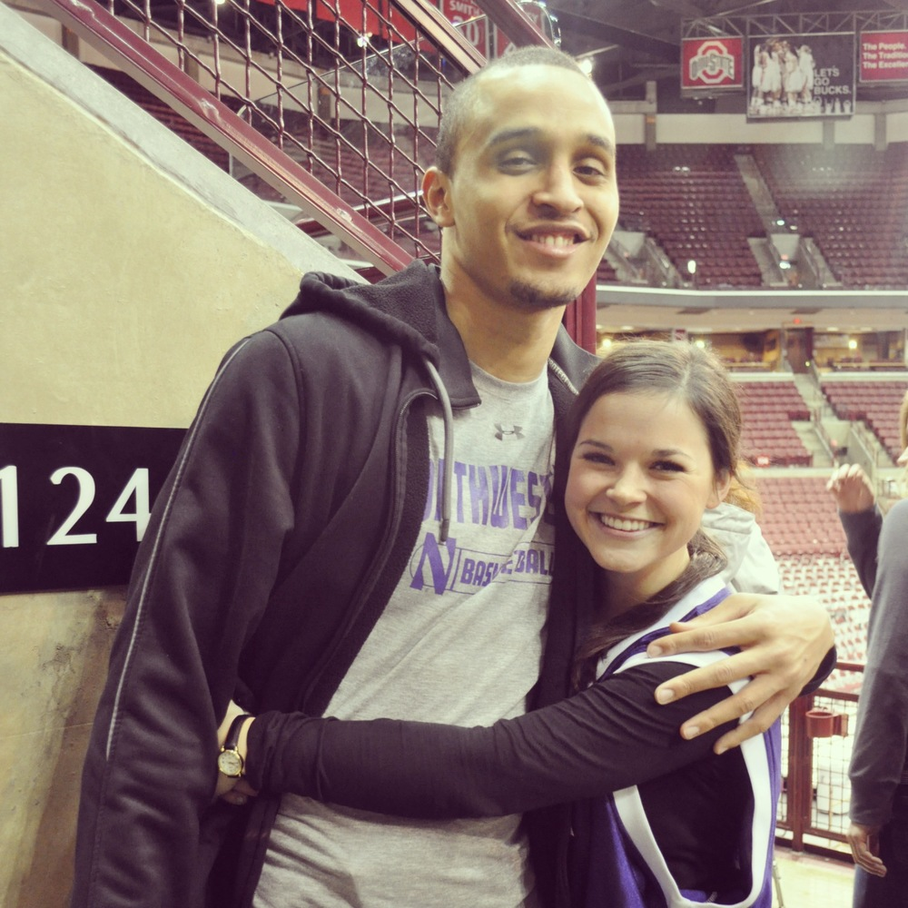 February | Sitting courtside at OSU with my friend (Kelly Mack) watching my all time favorite Wildcat play basketball.
