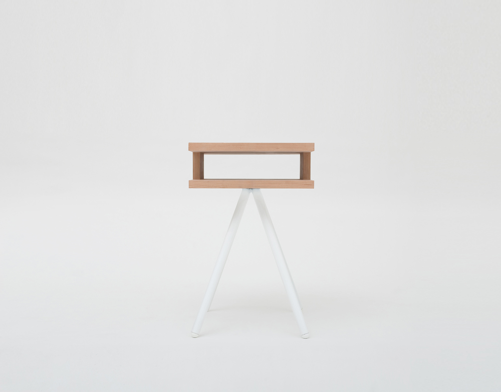 Thom Fougere Steel wood table