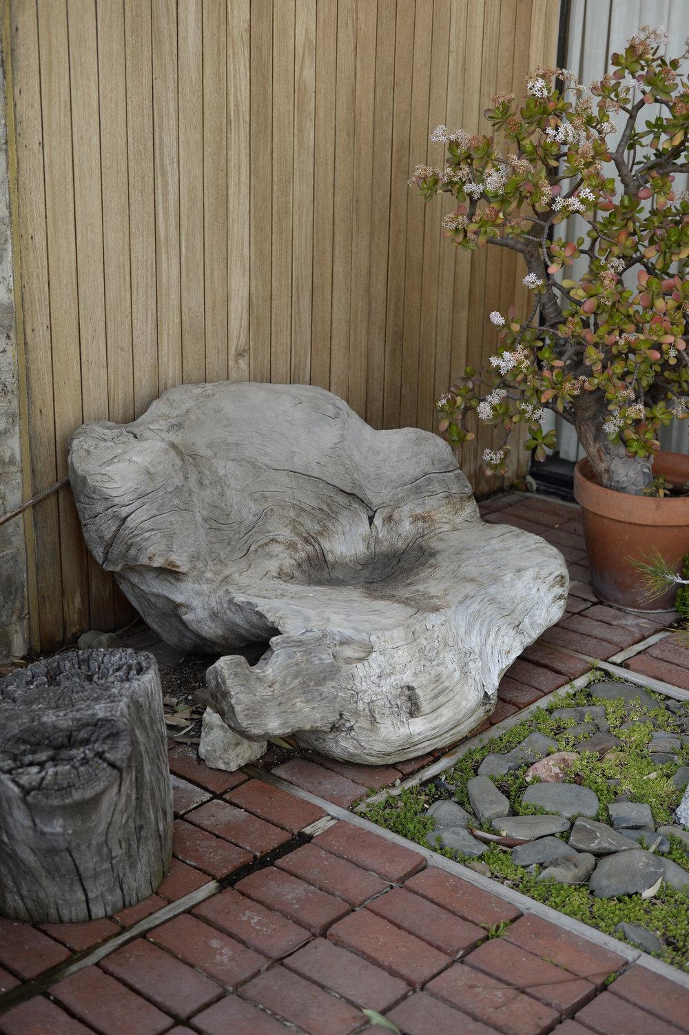 eames house courtyard california