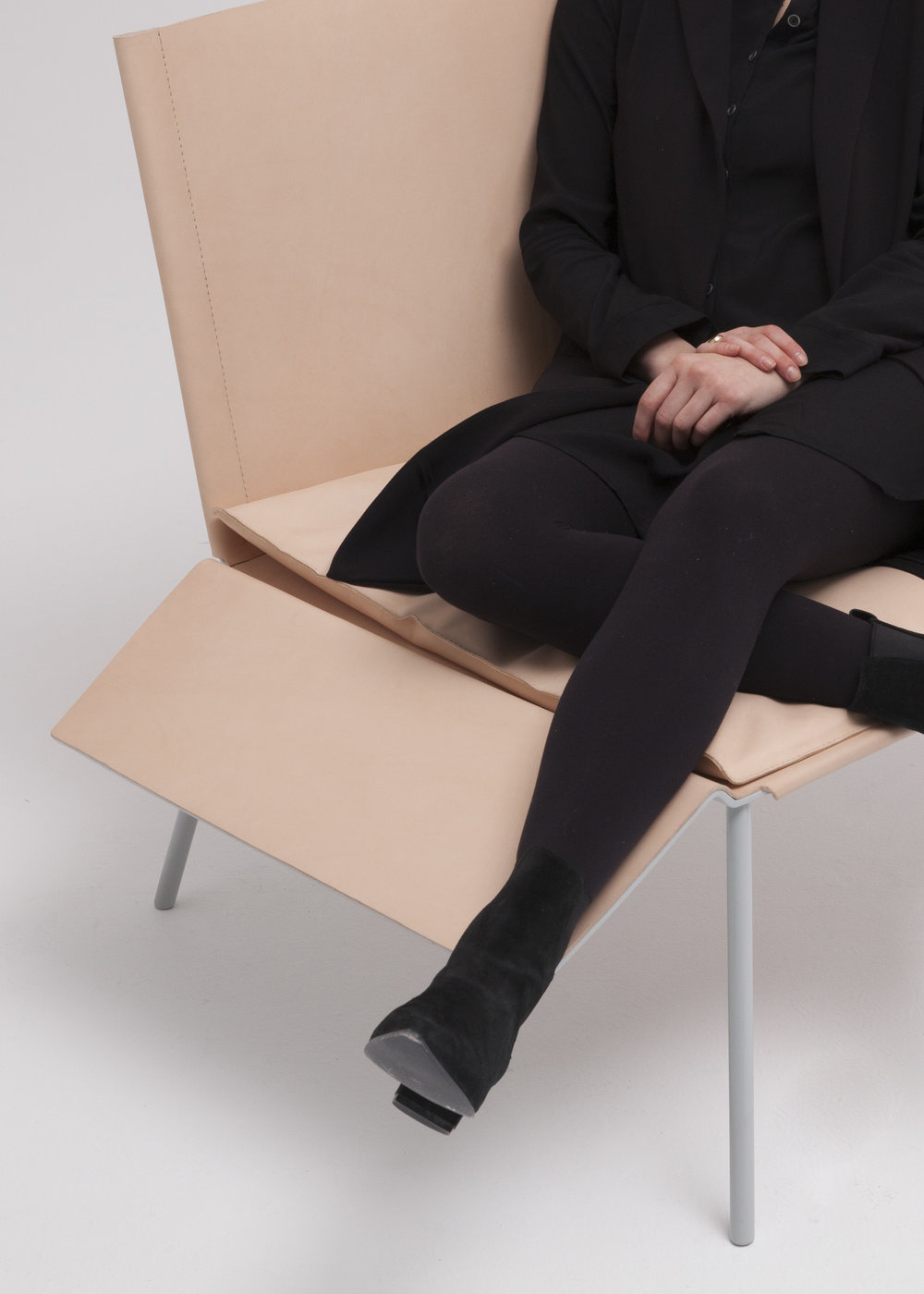 Thom Fougere Saddle Chair