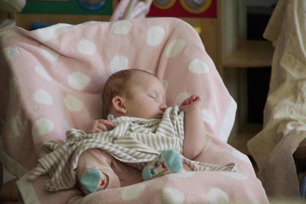 Margot Sleeping Back in February