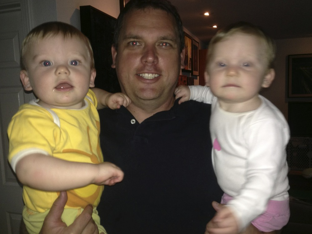 Dad and twins last week!