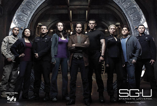 The cast of Stargate Universe (SGU)