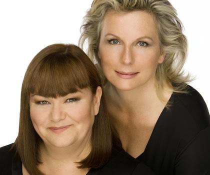 Dawn French (l) & Jennifer Saunders (r)