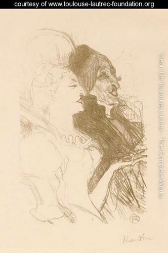 Toulouse-Lautrec's original drawing for Canaval