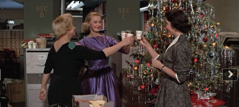 "Joan Blondell & Dina Merrill in ""Desk Set"""