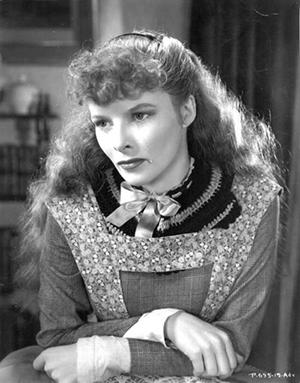 Hepburn as Jo in The Little Women