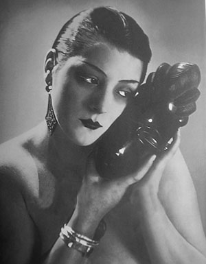 One of Man Ray's iconic images of Alice Prin