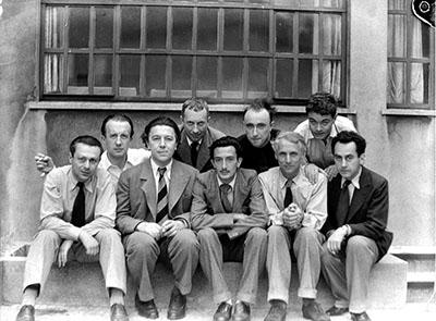Tzara, Elmar, Jaque Brenton, Max Ernst, Salvador Dali, Yves Tanguy, Jean Arp, Rene Crevel, Man Ray
