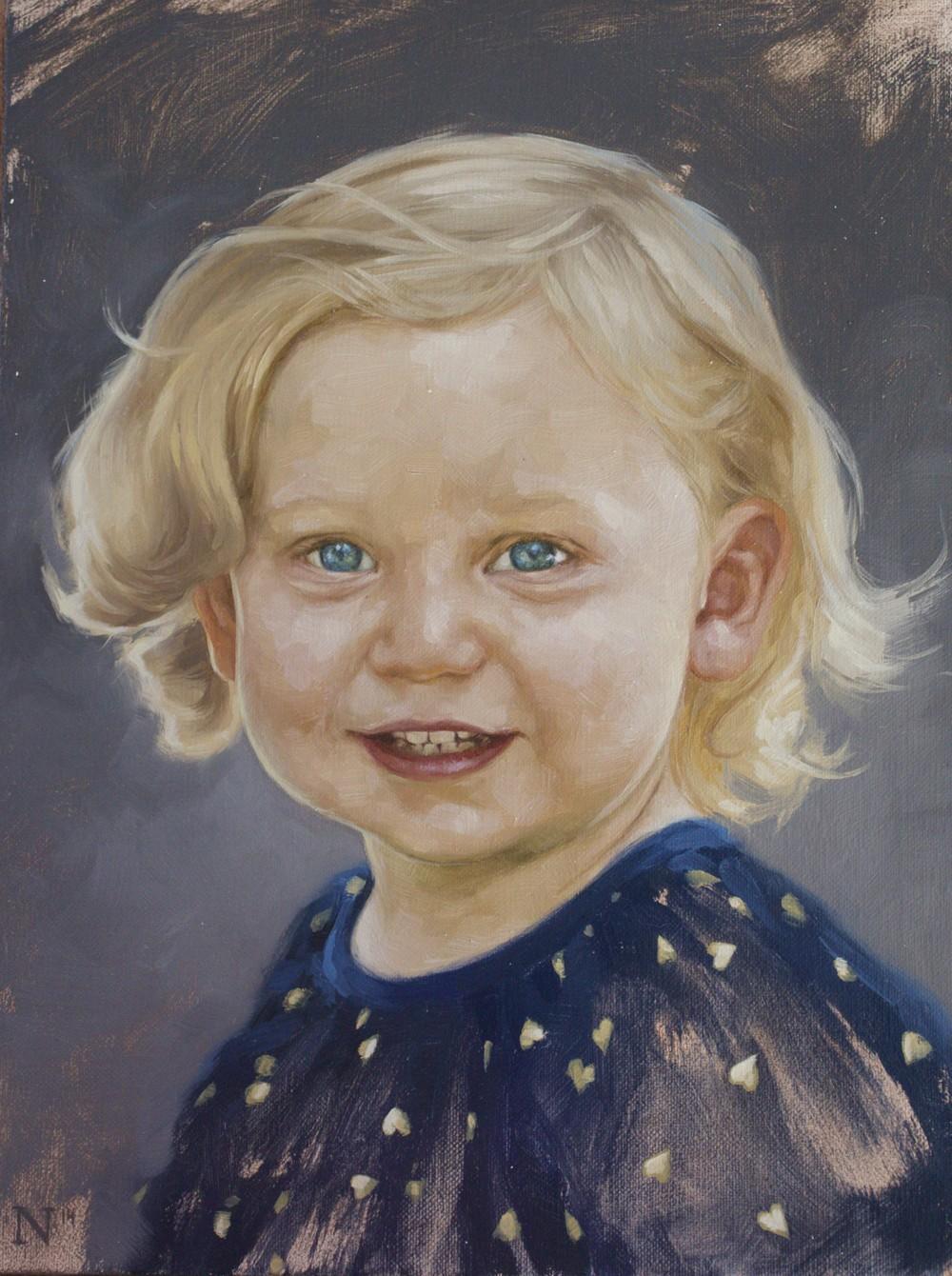 Paley 2yr Portrait by Aaron Nagel