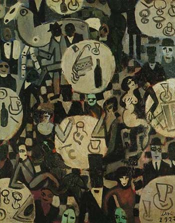Cabaret Scene - 1922 by Dali