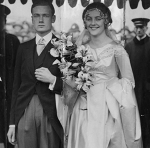Bryan Guinness & Diana Mitford on their wedding day.