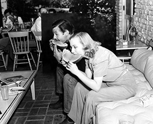 Lombard & Gable at a party at their 20 acre ranch in Encino, CA