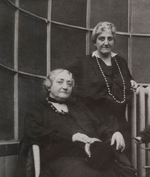 Claribel (seated) & her sister Etta (standing)