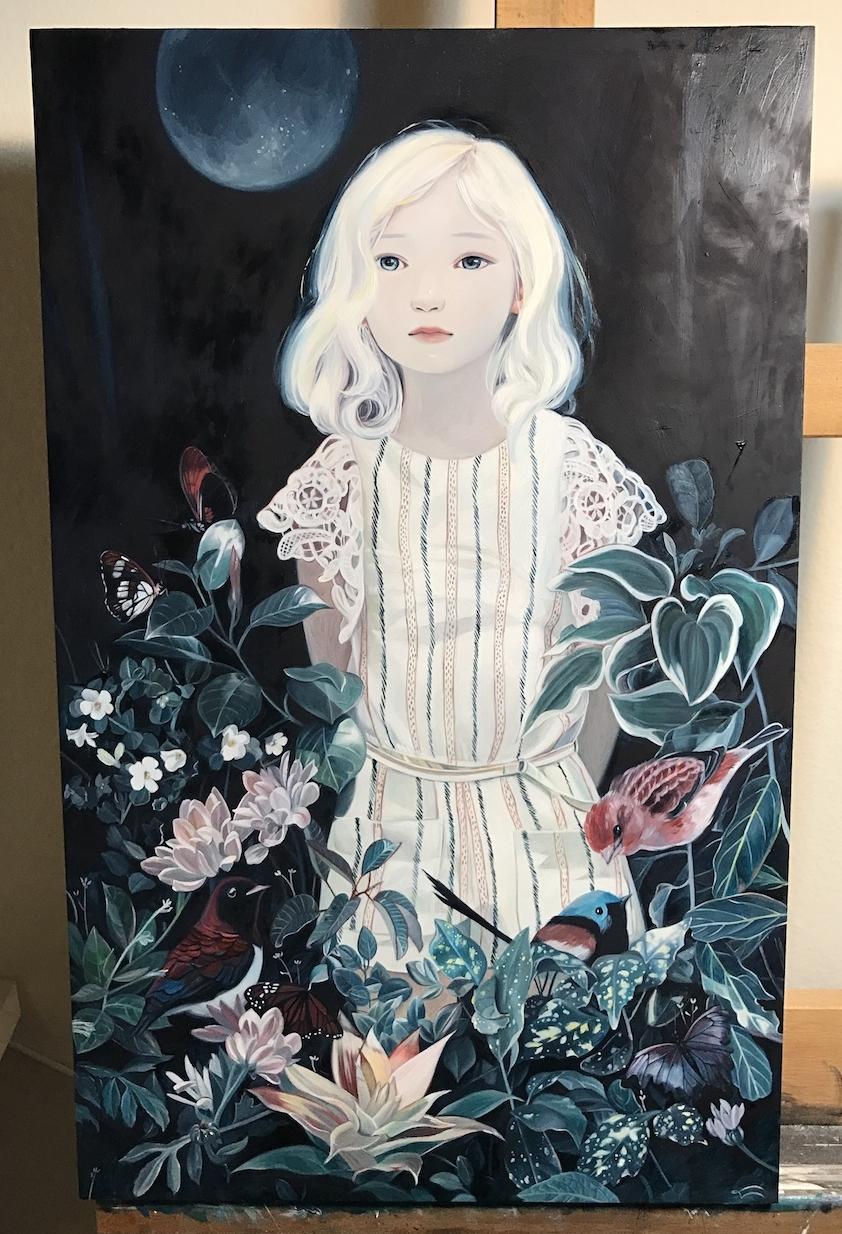 "JOANNA NAM ""Margot 4th""  2016  Acrylic, Oil on Board"