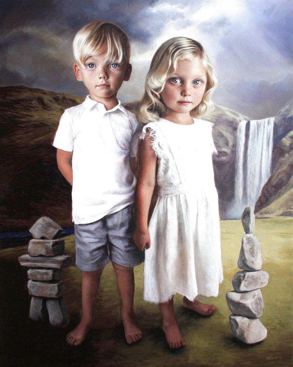 "RICHARD J. OLIVER ""Lochlan & Margot 5th""  2017  Oil on Canvas"