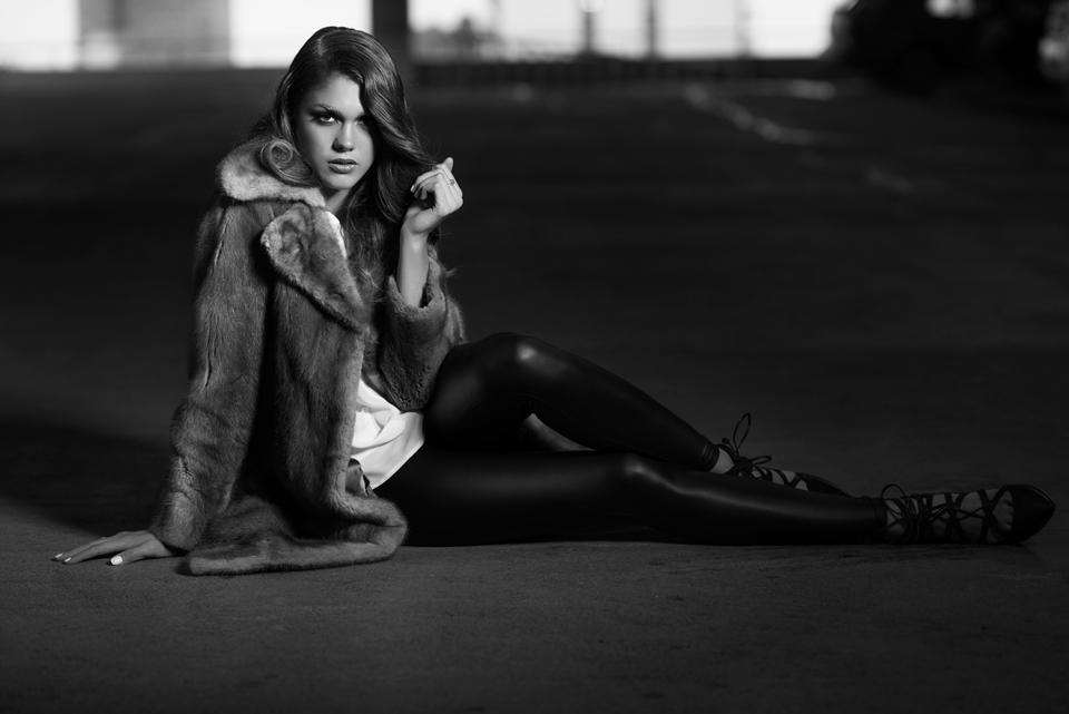 Rhiana ( EDGE Agency ):  Top: local designer Kazz Clothing . Leggings: Dynamite . Necklace: Aldo . Shoes: The Bay.