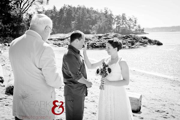 Victoria BC Outdoor Beach Wedding Photographer