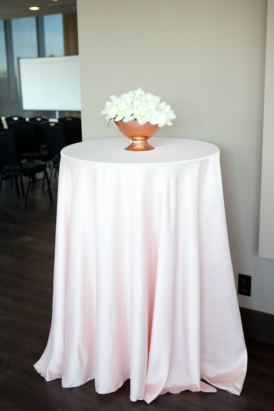 beautiful table and flowers by party mood