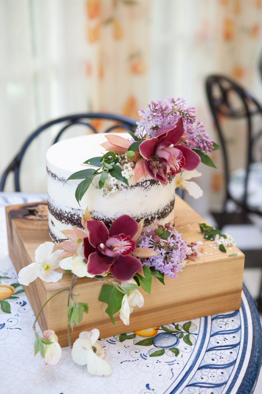 Naked wedding cake by Ruth and Dean, Victoria BC