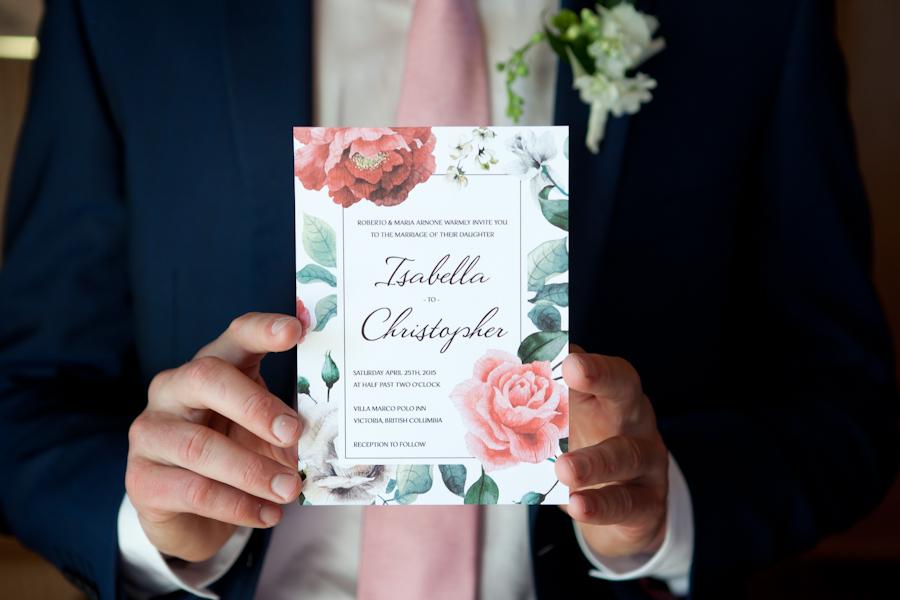 Elegant wedding invitations by Tuktu Paper Co.