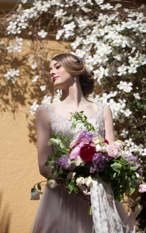 Bridal Portrait at Villa Marco Inn, Victoria, BC
