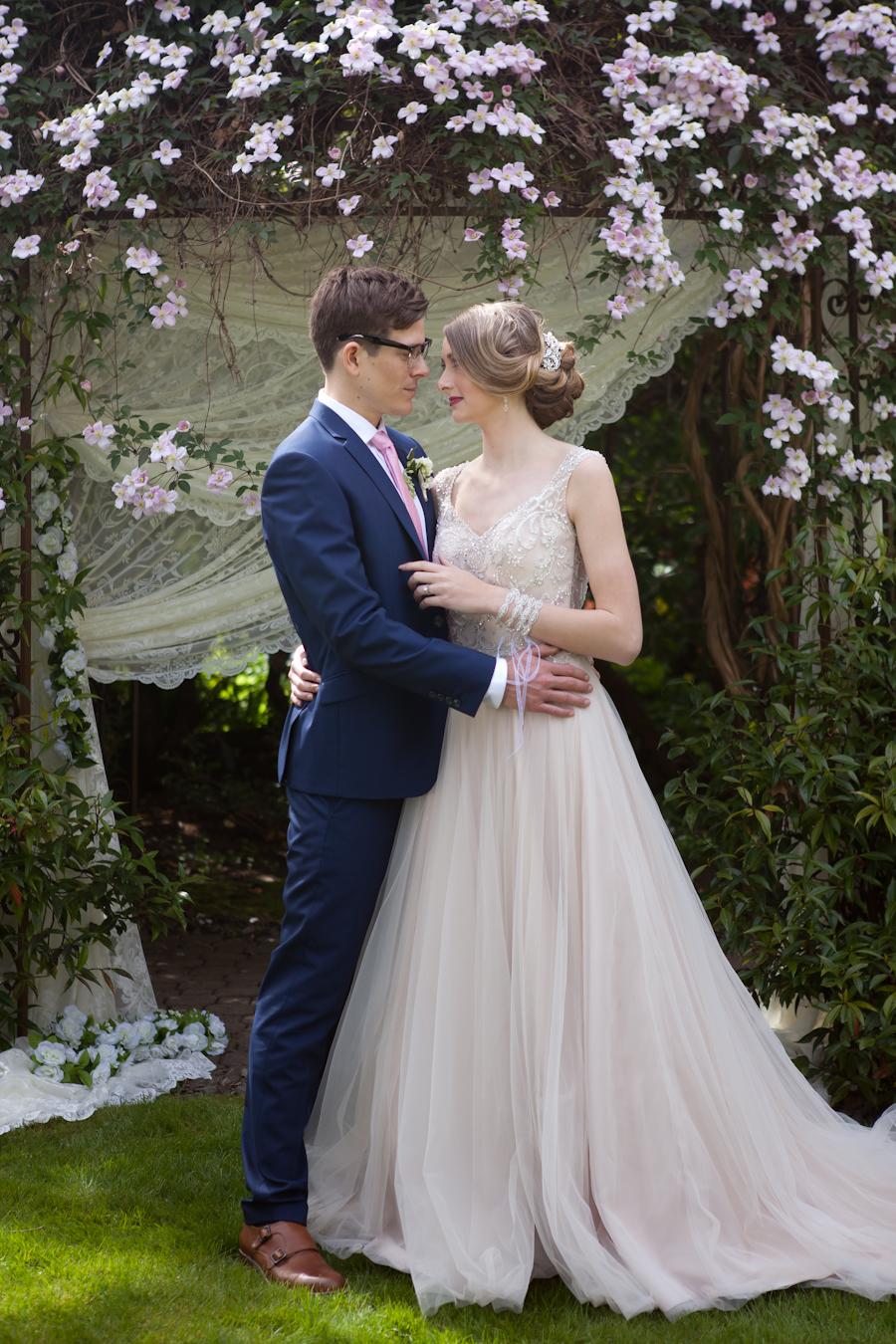 Lace arbour by Designer Weddings Victoria BC