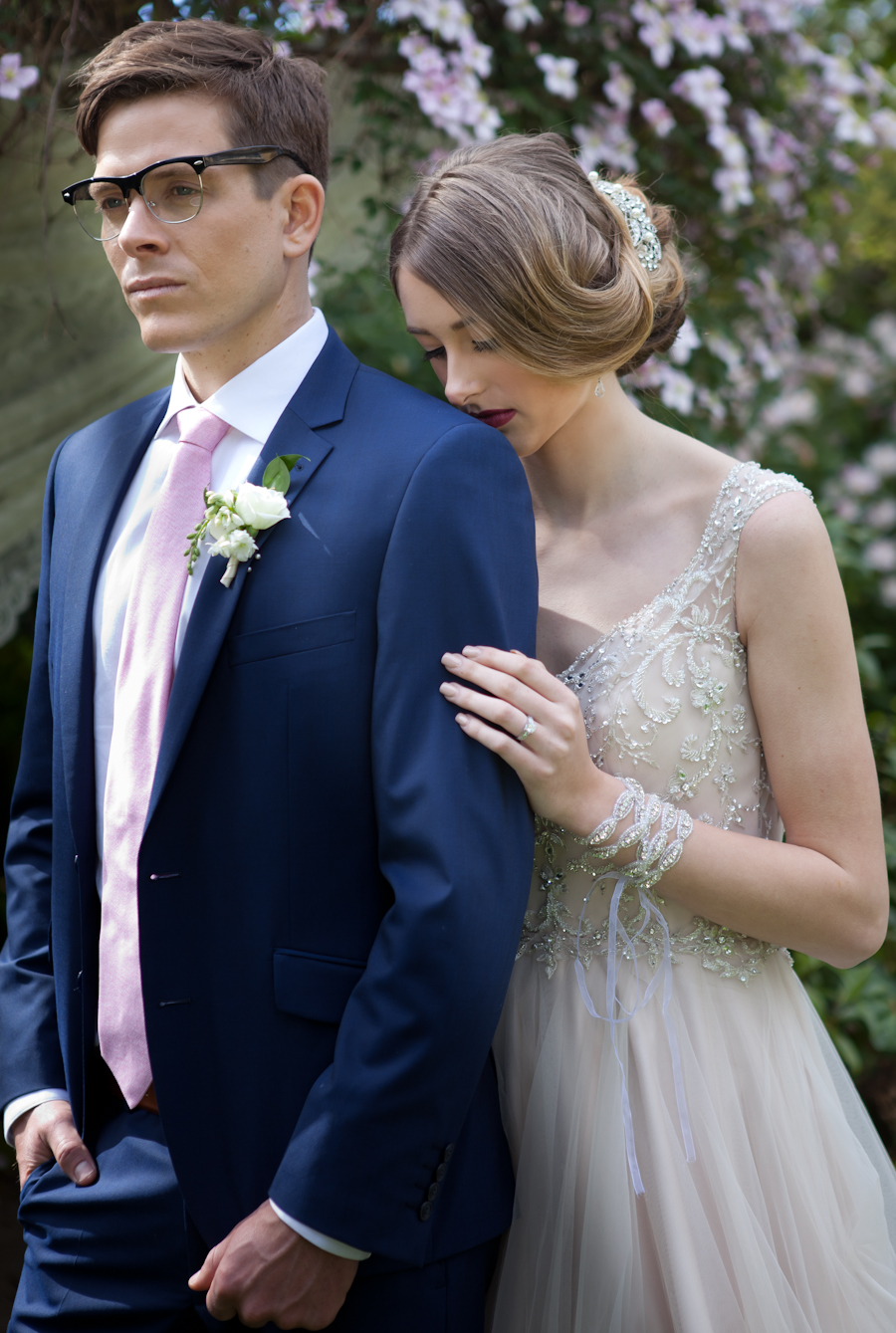 Outlooks for Men menswear and Blush Bridal Boutique wedding dress Victoria BC