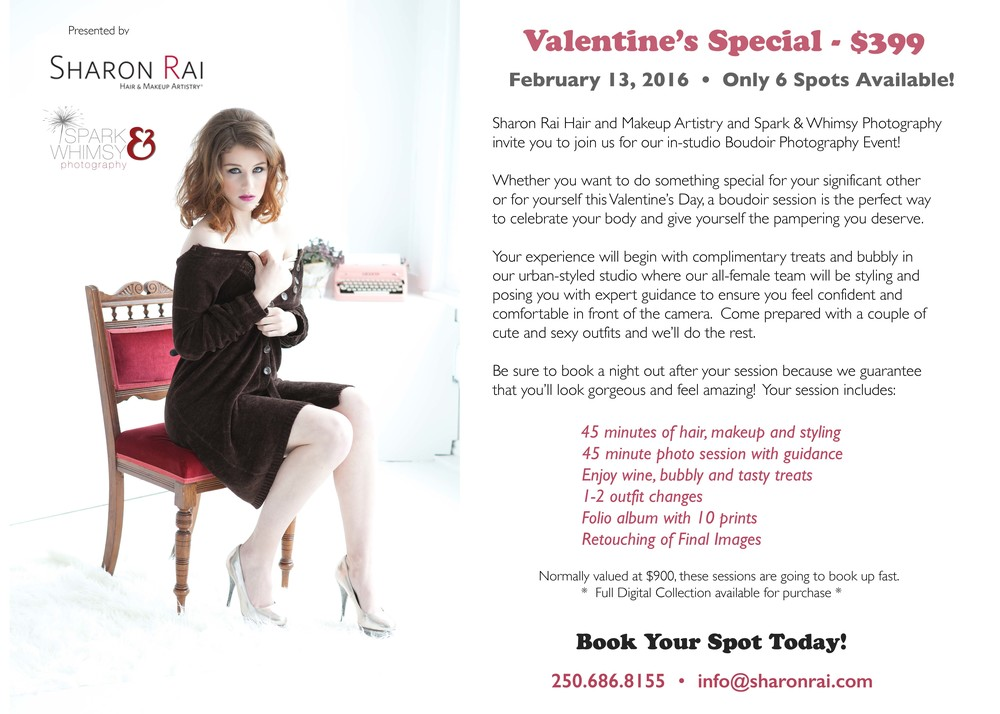Valentines day boudoir photography event victoria bc wedding on february 13th spoil yourself solutioingenieria Gallery