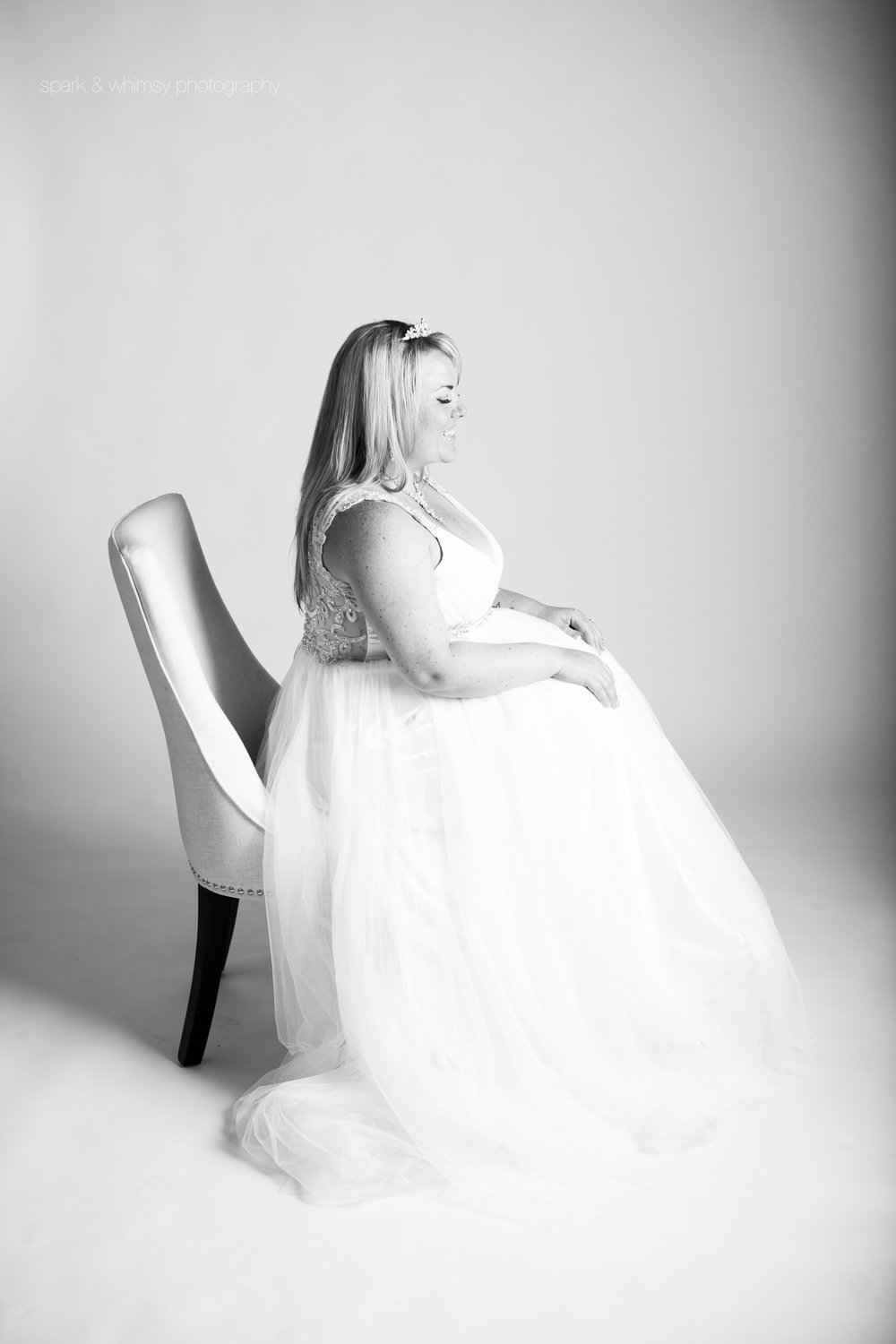 Bridal portrait in chair | Wedding photography Victoria BC