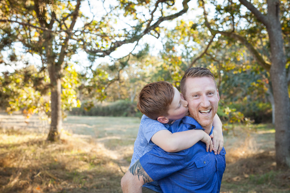 father son portrait | Family photographer victoria bc
