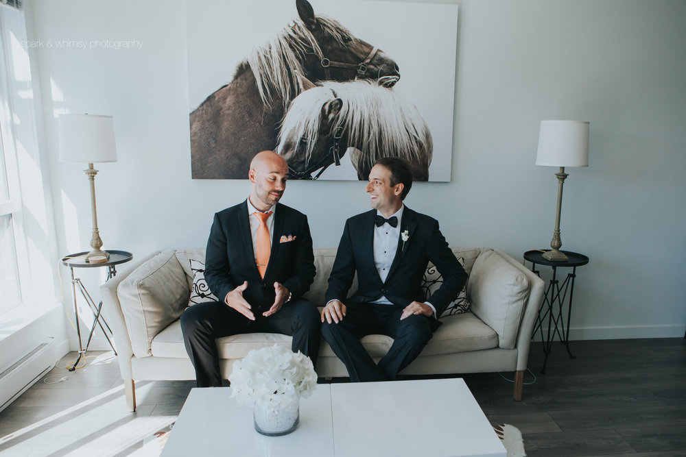 portrait of groom and best man | wedding photographer victoria bc