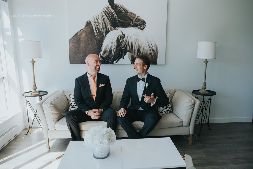 portrait of best man and groom | wedding photography victoria bc