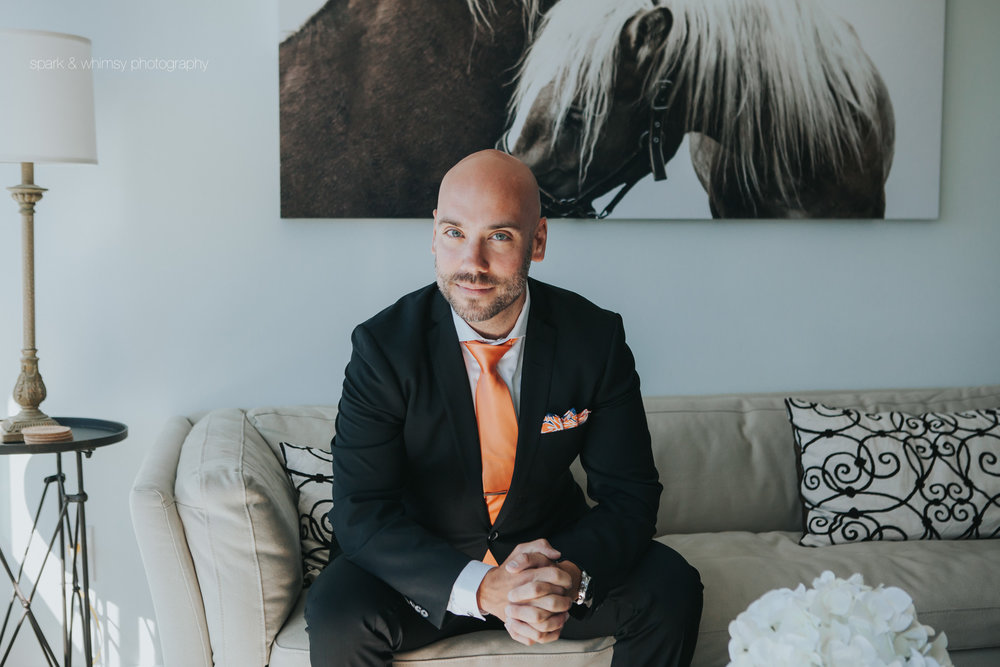 portrait of best man | victoria bc wedding photographer