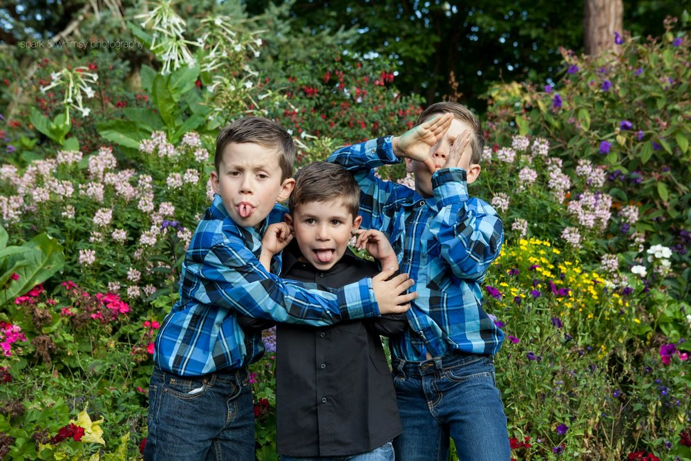 silly brothers portrait | family photographer victoria bc
