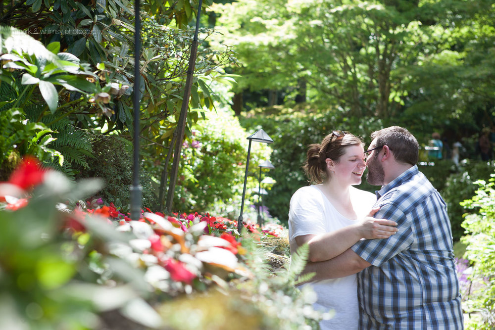 engagement session at Butchart Gardens | wedding photography victoria bc