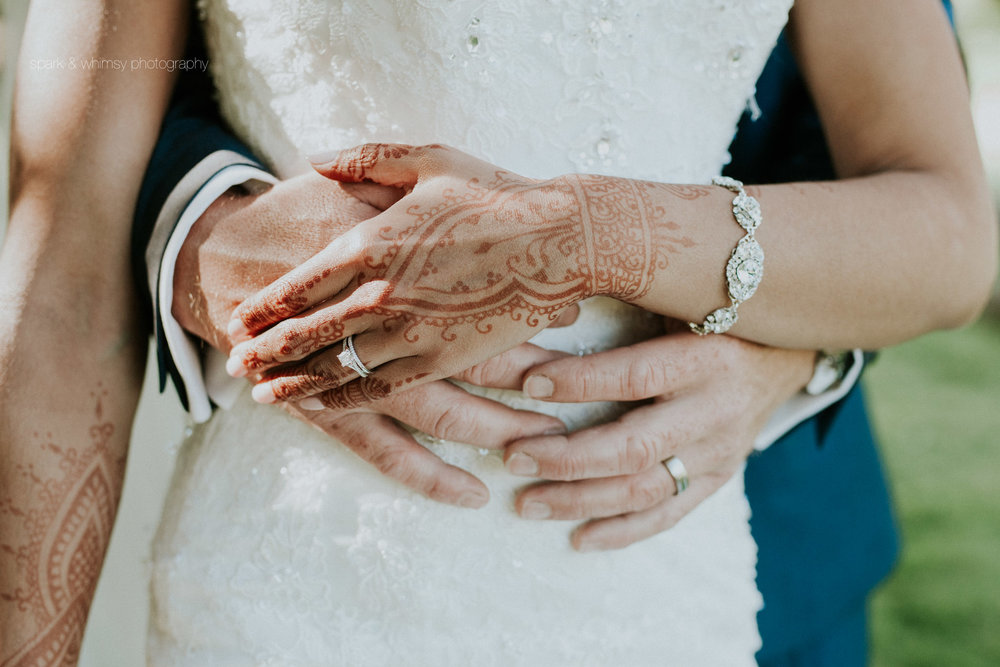 bride and groom's hands | victoria bc wedding photographer
