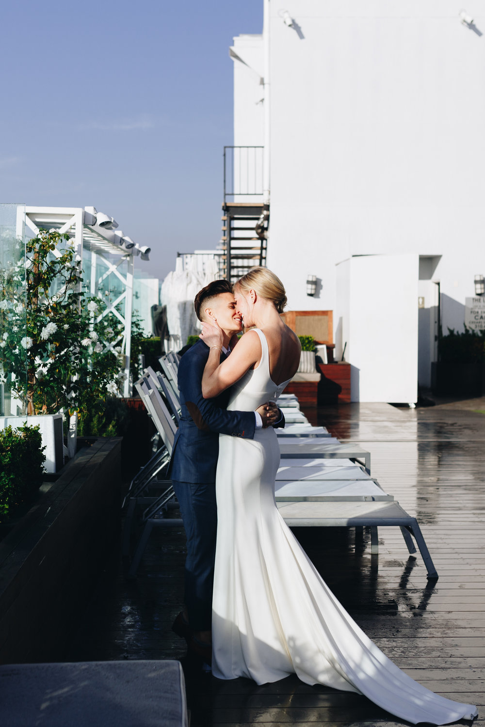 Tracy and Lindsey's Elegant and Romantic Brunch Wedding in Silverlake I Los Angeles Weddings I ©NYLONSADDLE Photography
