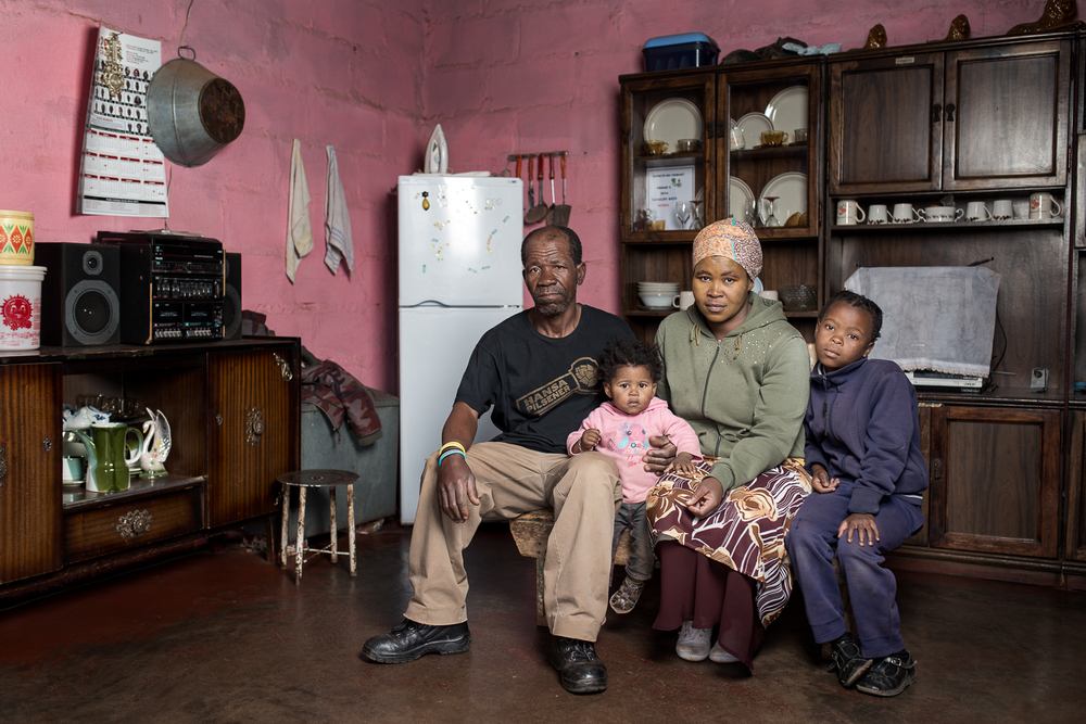 Zimoshile Bozo  is 57 years old and lives in Hofmeyr in the Eastern Cape province. He worked on the mines for 27 years at Blyvooruitzicht Gold Mine and was diagnosed with silicosis in 2008. He didn't receive any compensation and now has to rely on his sister to care for him, as he is unable to find work. He lives with his sister and her children in a small three-room house in the township outside Hofmeyr.