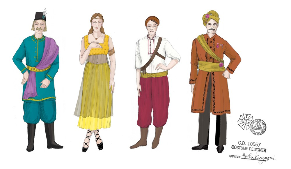 designs for Erismena, Spring 2015