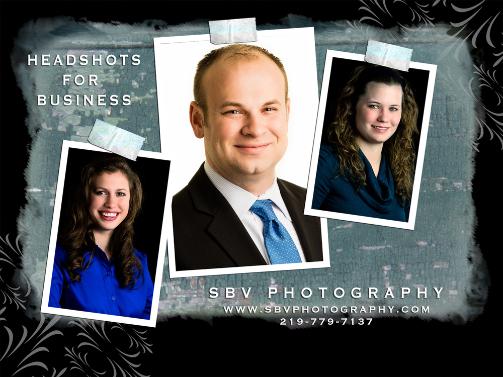 Headshots for Business Promo Card.