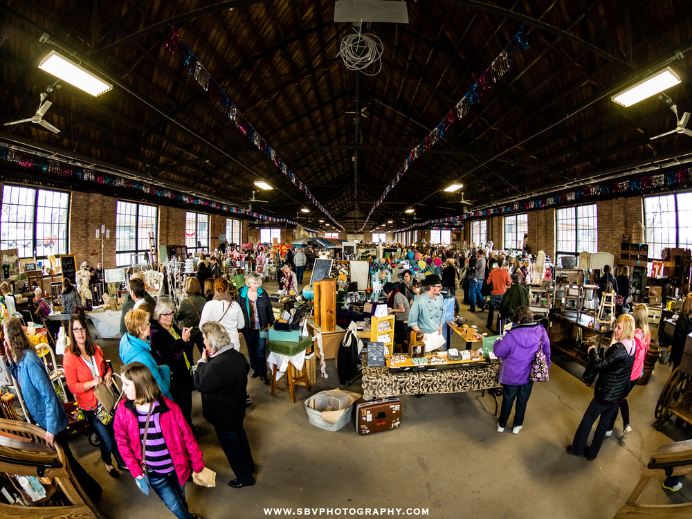 The Hunt and Gather Pop Up Markets at the Industrial Building in Crown Point, Indiana.