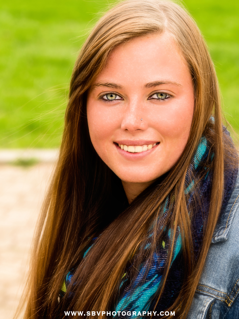 A soft focus close up shot of a high school senior in Hobart, Indiana.
